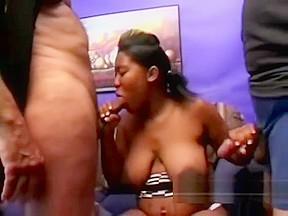 Brutal black amateur got nailed into her huge...
