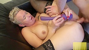 Whore plowed deeply in both holes...