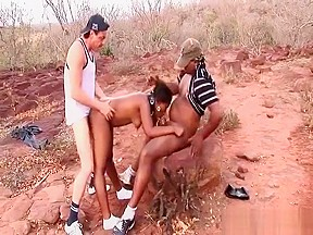 African threesome fuck orgy...