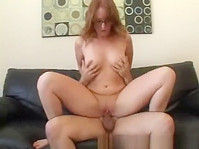 Redhead Cute Teen With Big Tits Gets Risky Creampie