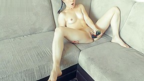 She Lost Dildo so Used Huge Zucchini to Please Her Tight Pussy - Tacy Tight