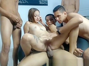 4 mans vs one latina girl more on...