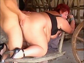 Ssbbw mature rides younger skinny guy...
