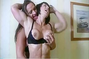 Milf lesbian muscle fuck...
