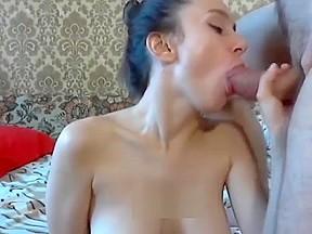 Teen creampie swallow...