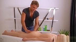 Beauty is paying masseur lusty job...