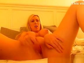 Boobs teases on bedroom webcam...