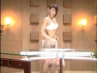 Japanese TV Announcer Stripping Virgin cunt popped