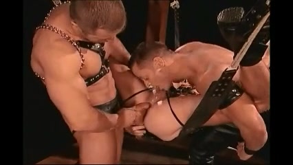 Homosexual Leather Trio lesbian all anal pleasure