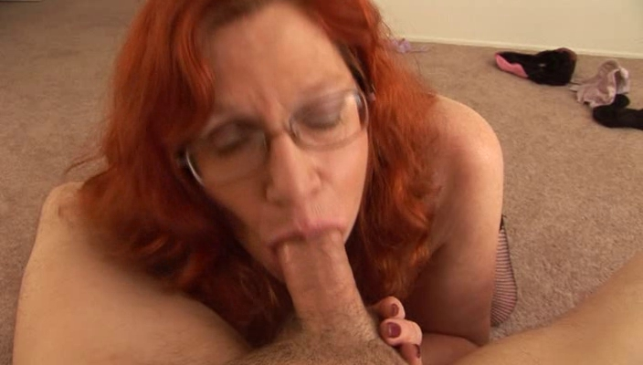 Aged 56 old years Women topless and holding a dick