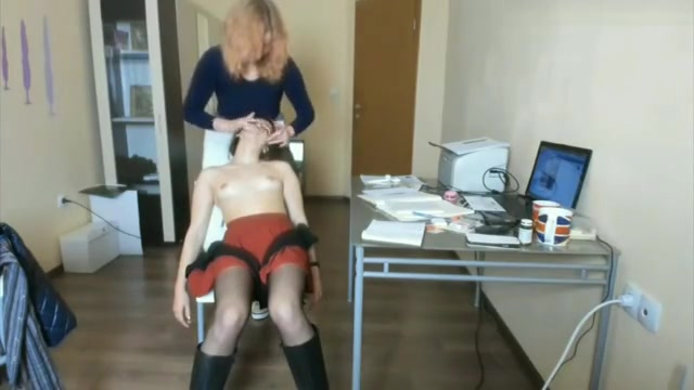 Girl Gets A Naughty Massage From Her Redhead Girlfriend