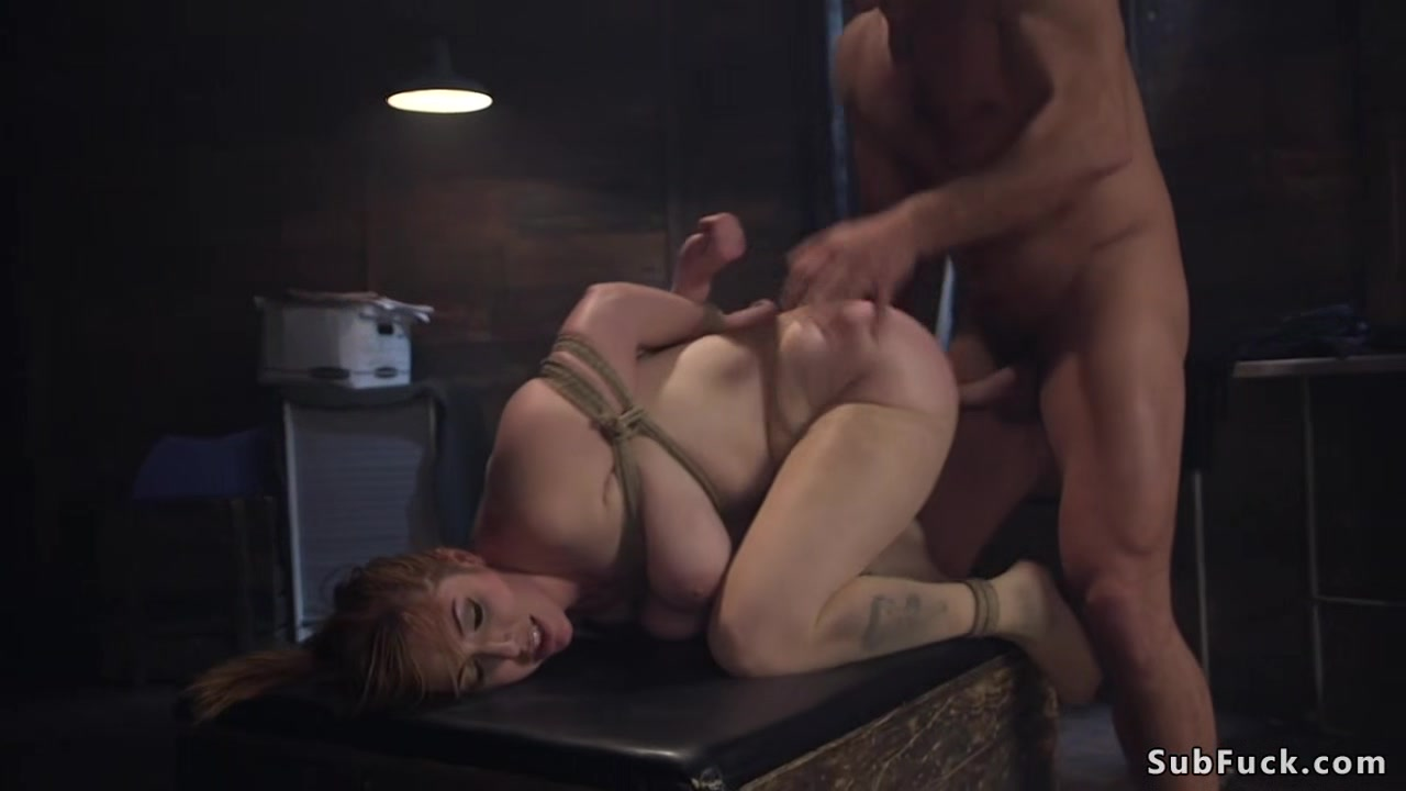 Huge tits redhead Milf anal banged Forced fucked white wife