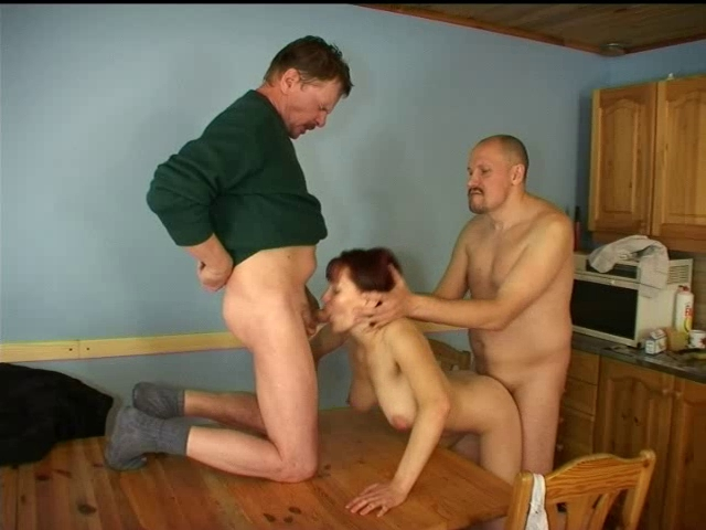 Redhead screwed by two studs Fucking Her In The Ass With Strapon