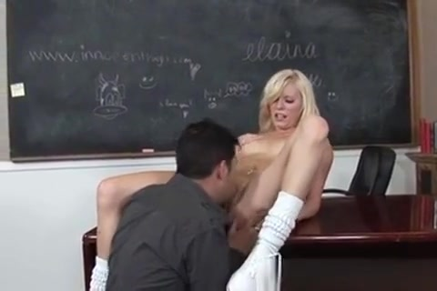 Sexy Young Blonde Getting Fucked At School