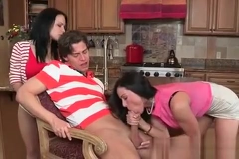 His Girlfriend Watches Him Get Blow Job From Her Step Mom Veronica Brazil