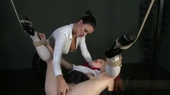 Redhead Student Pussy Toyed In Femdom In Dungeon Crazy slut fucks her doctor