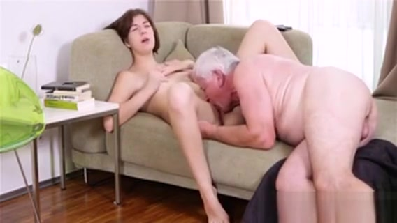 Young Chick Gets Banged From Behind By Old Nasty Guy Dildo for Kira Croft and Renae Cruz