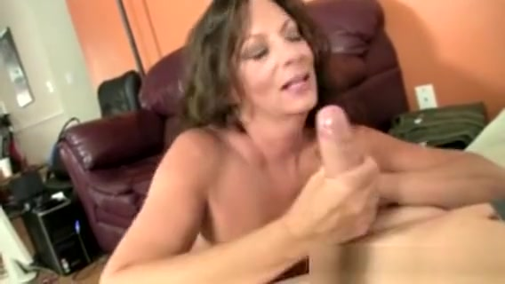 Busty Cougar Mom Jerking His Dong b first with yellow my