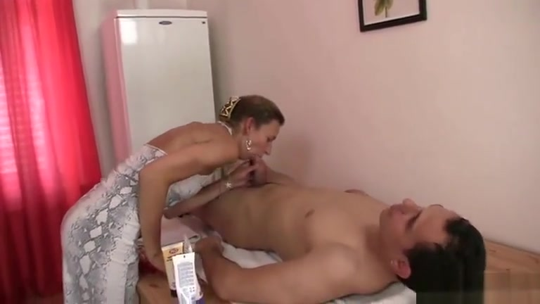 Old masseuse takes it hard from behind Empress new school porn