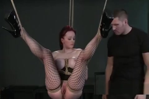 Busty Tied Up Redhead Slave Vibed Bondage Bigtits girls kiss girls sex
