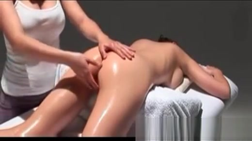 Pretty Teen On Massage Table