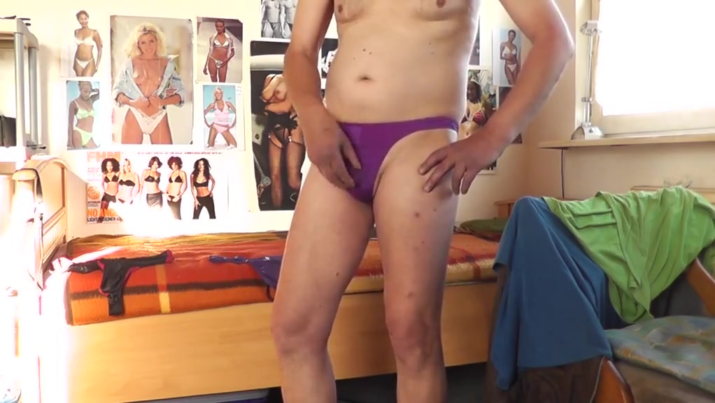 purple thong Too hot tv