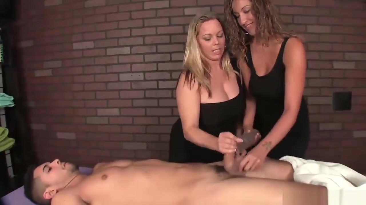 Two bossy ladies tag-team a poor young man films open hymen sex