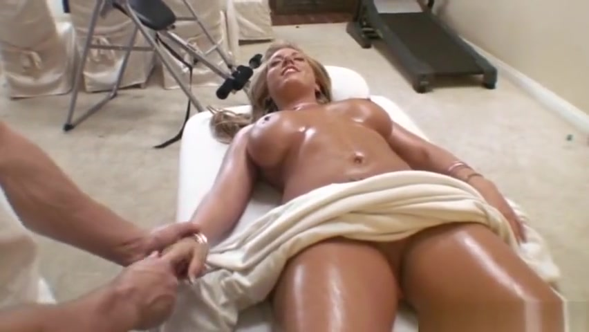 Busty Blonde Tit Massage Sucked to orgasm