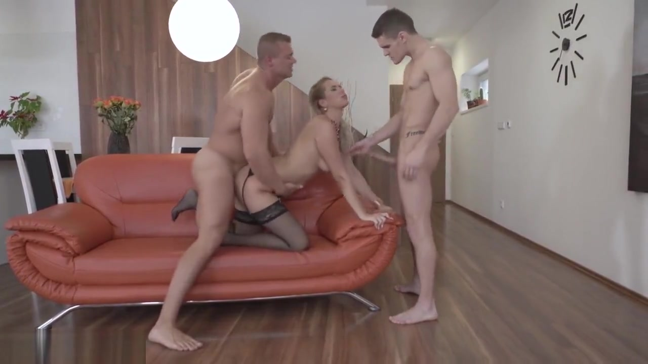 Glamkore - Euro Beauty Nikky Dream DP Threesome Surprise Mature hairy pusssy