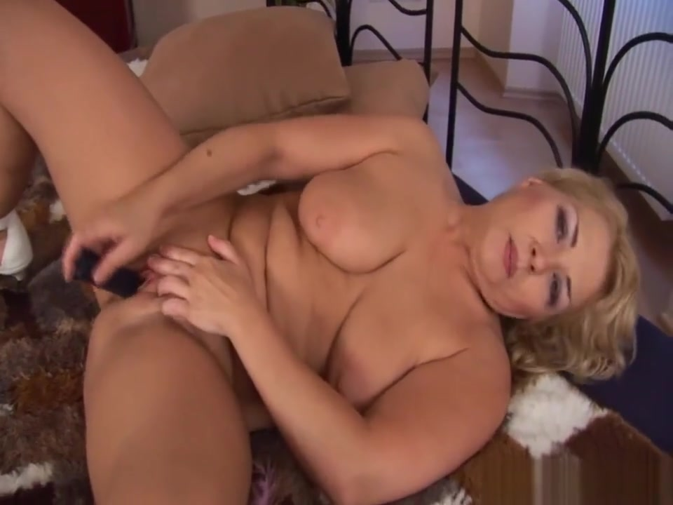 sexy chubby busty milf alone at home