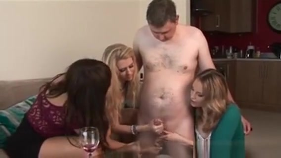 Clothed Brits Get Cumshot From Tugging Cock girl getting anal fucked