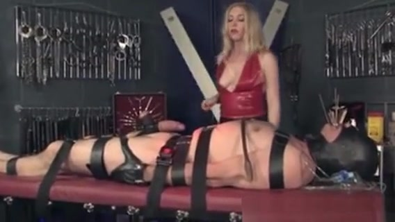 Leather Mistress Whipping Pathetic Sub Havana ginger first anal