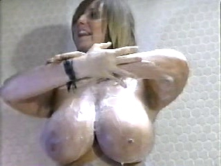 Busty babe in a hot vintage erotic show in the shower Orgie sex party