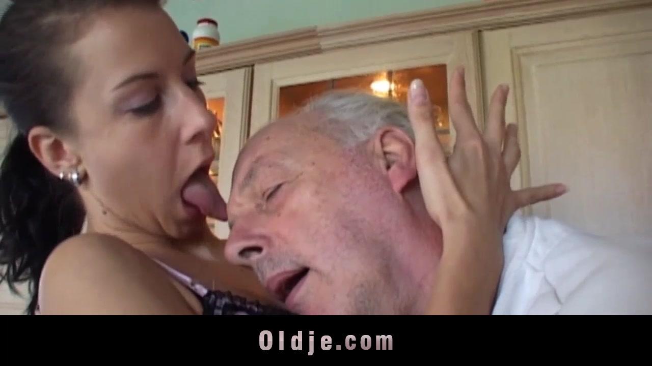 Brunette licks grandpa s sere skin and fucks him Monet one piece nu