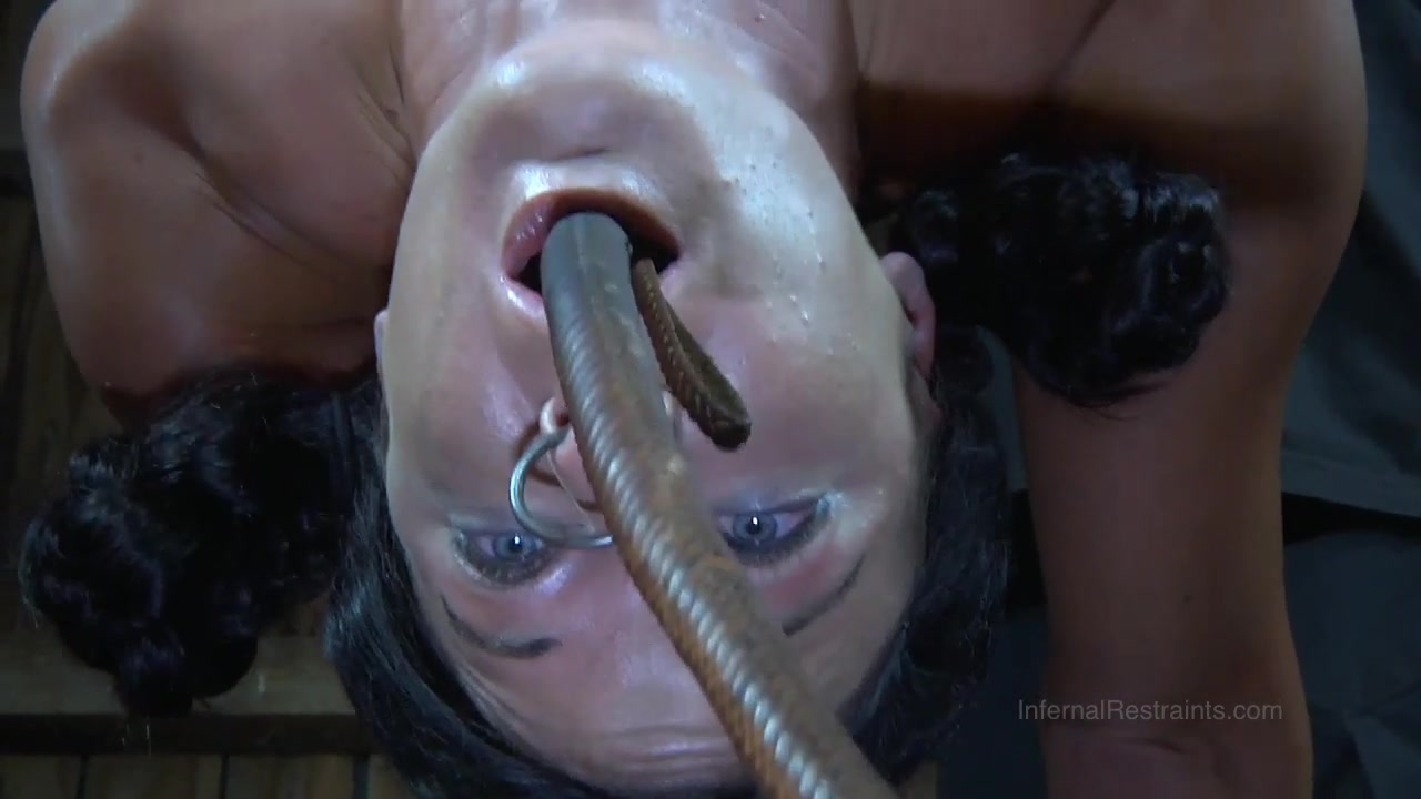 Strappado, claustrophobia and orgasm predicament for captive big tits hot lebian porn video