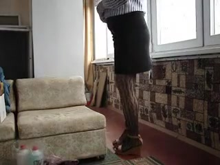 Crossdresser in pantuhose First handjob guys