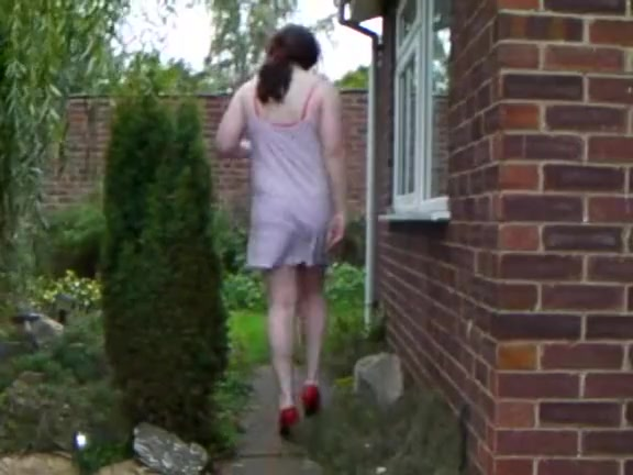 Hot Lucy Fox gets naked in the Garden Watching Wife Another Man