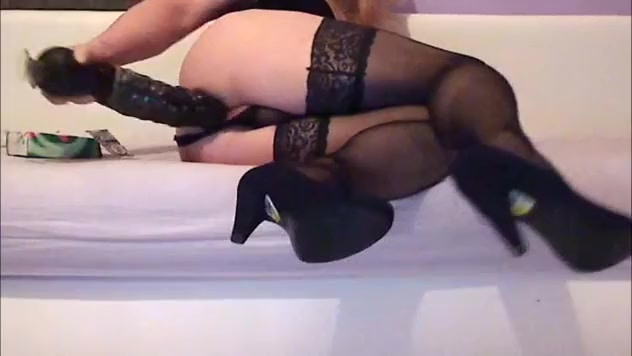 A Real Crossdresser Slut Play with Her Ass big areolas tits video