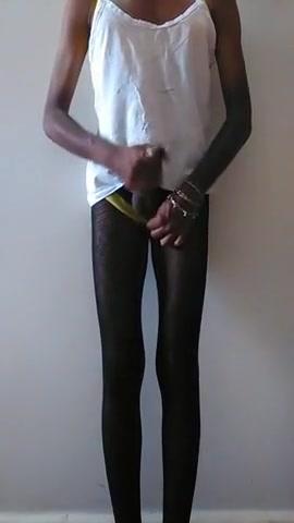 Black Amateur CD Wanking Dick mistress fucks anal her slave