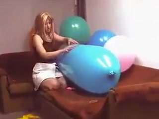 Riding a blue zeppelin shaped balloon till pop photos of nipples during pregnancy