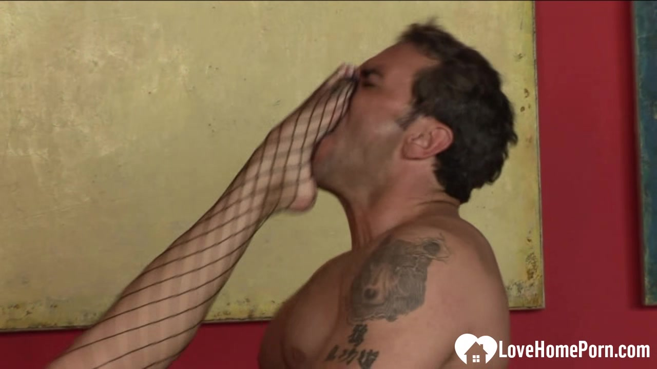Sexy babe in fishnets nailed in various positions age of sex consent