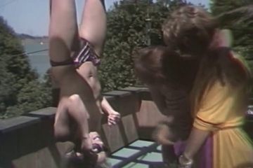 Outdoor activities. Shemales Share Dildo