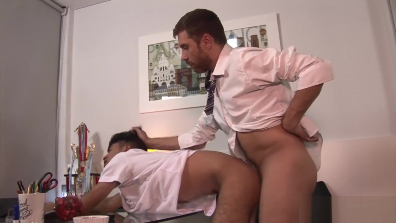 Principal Andres enjoys punishing the errant schoolboy. free gay lation porn