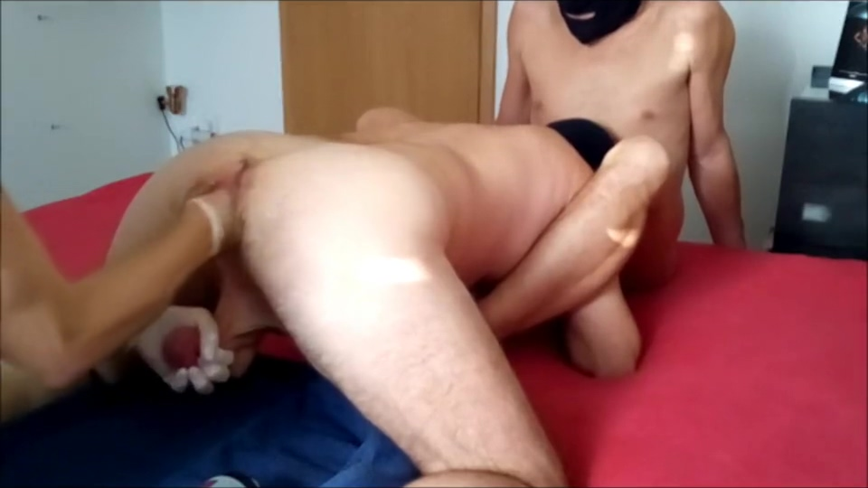 Fisting - three in action Milf slut fucked hard in all holes