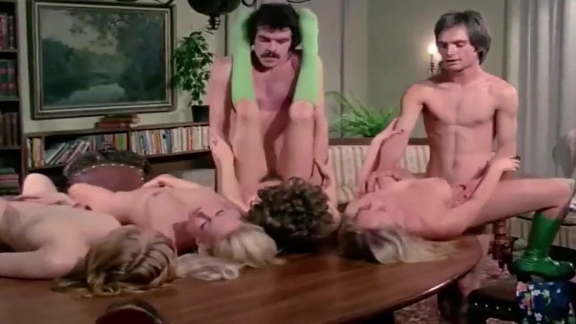 Vintage Orgy 80 Black girl twerks naked