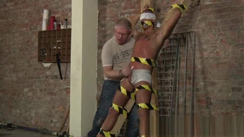 Bondage gay porn xxx Slave Boy Made To Squirt Naughty Blonde in High Heels