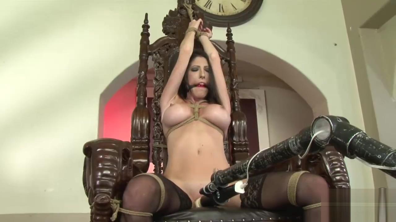 hot brunette in strict bondage 1 beautiful babes sucking cock