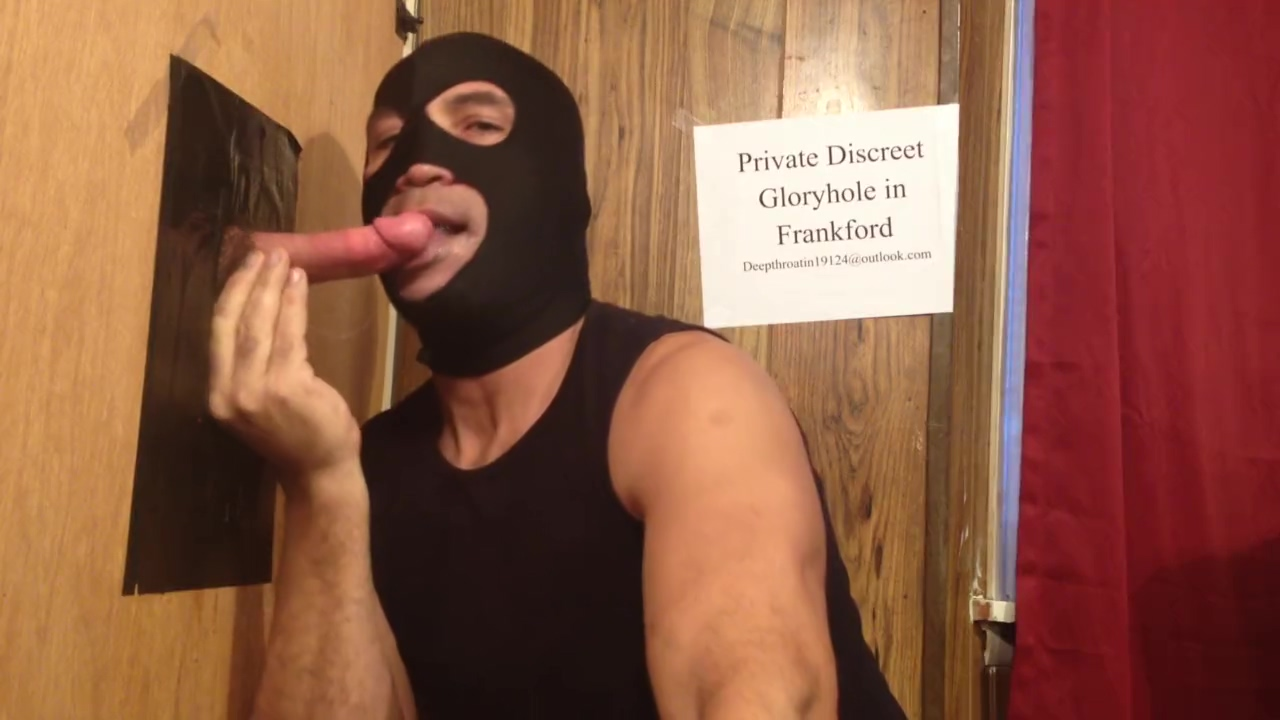 Poppers and a Big Cock Squirting at the Gloryhole Gay porn dangerous game