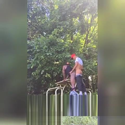 Park Bench big tit handjob slut