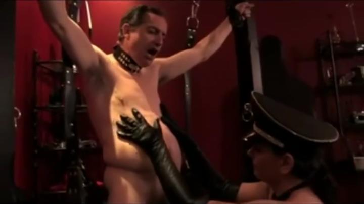 Mistress Drives Leather Slave Crazy Angela White Oil Brazzer